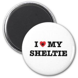I Heart My Sheltie Fridge Magnet