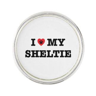 I Heart My Sheltie Lapel Pin