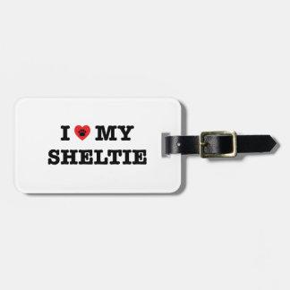 I Heart My Sheltie Luggage Tag