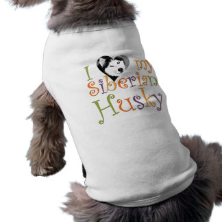 I (Heart) My Siberian Husky  - Dog Sweater Shirt