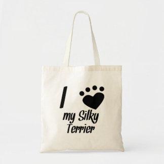 I Heart My Silky Terrier Bags