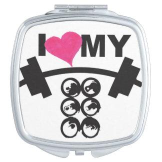 I HEART My Six Packs & Racks Vanity Mirror