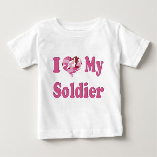 I Heart My Soldier Baby T-Shirt