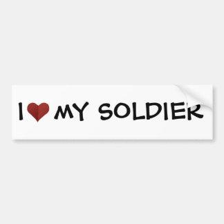 I Heart My Soldier Bumper Sticker