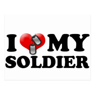 I heart my Soldier Postcards