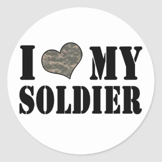 I Heart My Soldier Stickers