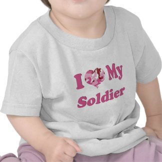 I Heart My Soldier T Shirt