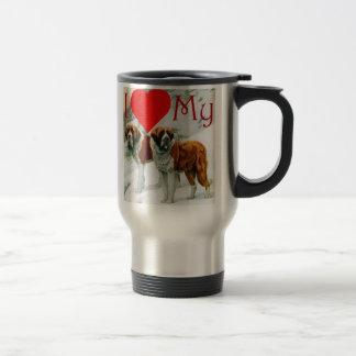 I heart my St Bernard Mug