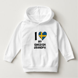 I Heart My Swedish Grandpa Hoodie