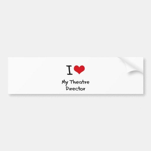 I heart My Theatre Director Bumper Stickers