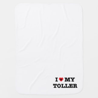I Heart My Toller Baby Blanket