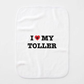 I Heart My Toller Burp Cloth