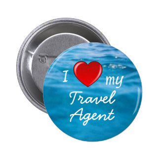 I Heart My Travel Agent 6 Cm Round Badge