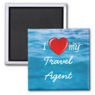 I Heart My Travel Agent magnet