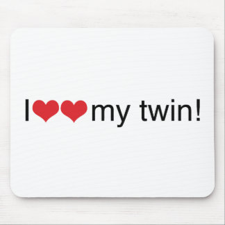 I Heart My Twin Mouse Pad
