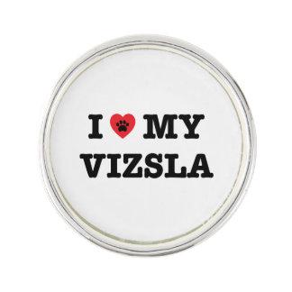 I Heart My Vizsla Lapel Pin