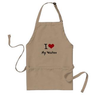 I heart My Waiter Adult Apron