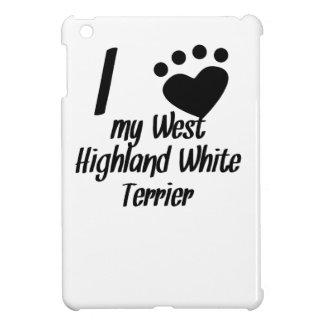 I Heart My West Highland White Terrier iPad Mini Cover