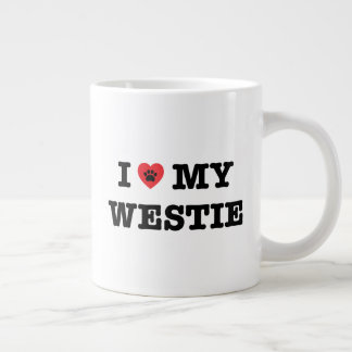 I Heart My Westie Large Coffee Mug