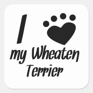 I Heart My Wheaten Terrier Stickers