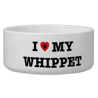 I Heart My Whippet Ceramic Pet Bowl