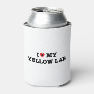 I Heart My Yellow Lab Can Cooler