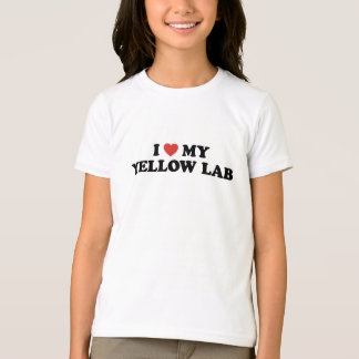 I Heart My Yellow Lab T-Shirt