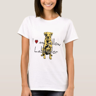 "I ""heart"" my yellow Labrador with graphic T-Shirt"