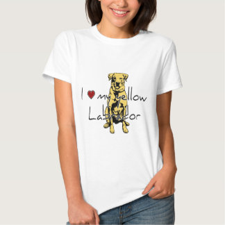 """I """"heart"""" my yellow Labrador with graphic Tees"""