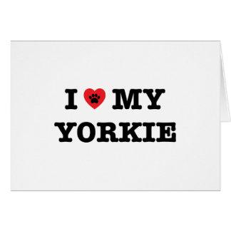 I Heart My Yorkie Greeting Card