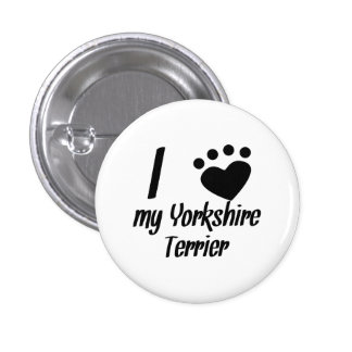 I Heart My Yorkshire Terrier Button