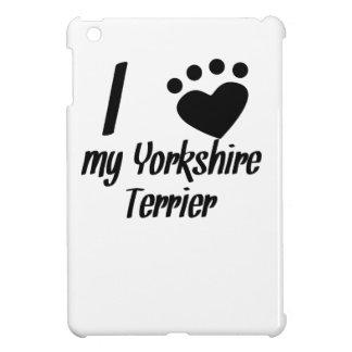 I Heart My Yorkshire Terrier iPad Mini Cover