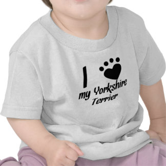 I Heart My Yorkshire Terrier T Shirts