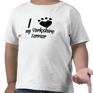 I Heart My Yorkshire Terrier Tshirt