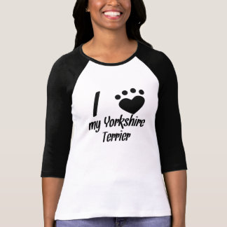 I Heart My Yorkshire Terrier Tshirts