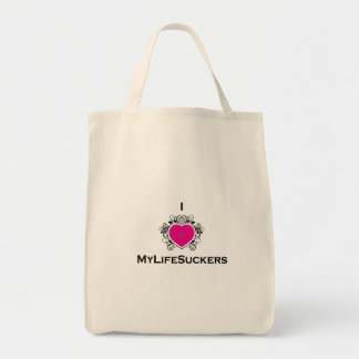 I Heart MyLifeSuckers Grocery Tote Tote Bags