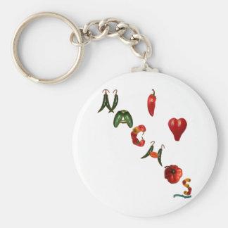 I Heart Nachos Key Ring