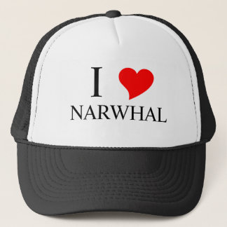 I Heart NARWHAL Trucker Hat