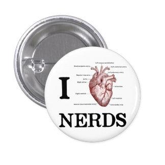 I Heart Nerds 3 Cm Round Badge