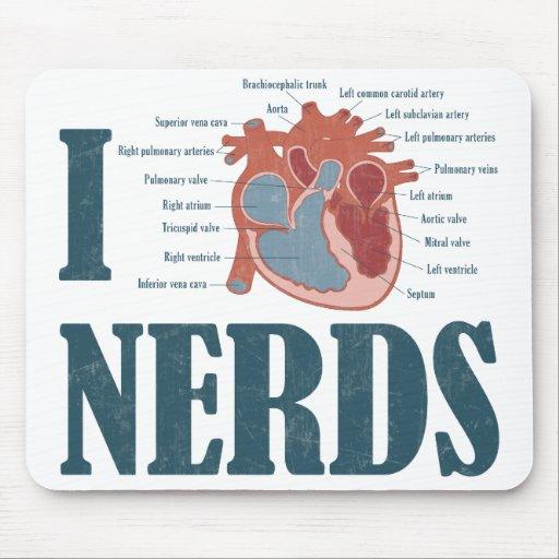 I Heart NERDS Mousepad