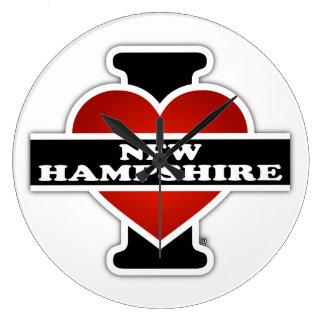 I Heart New Hampshire Clocks