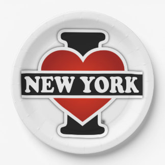 I Heart New York Paper Plate