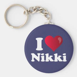 I Heart Nikki (Haley) Basic Round Button Key Ring