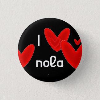 I heart nola 3 cm round badge