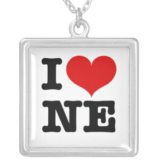 I Heart Nordeast Minneapolis Silver Plated Necklace