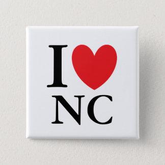 I Heart North Carolina 15 Cm Square Badge