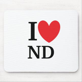 I Heart North Dakota Mousepad