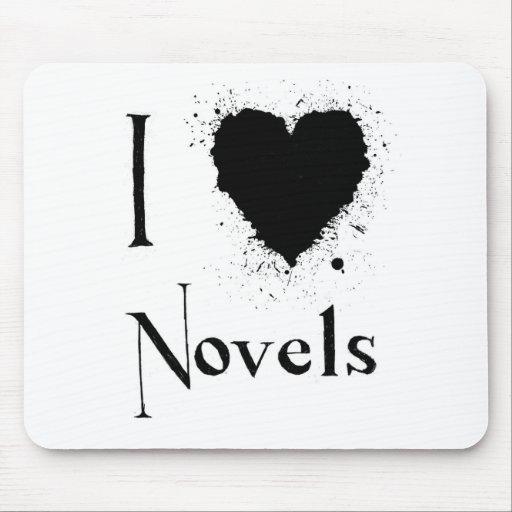I Heart Novels Mouse Mats