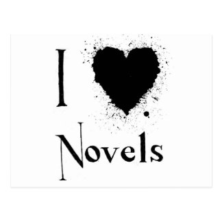 I Heart Novels Postcard