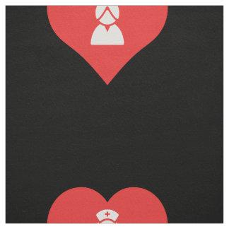 I Heart Nurse Uniforms Icon Fabric
